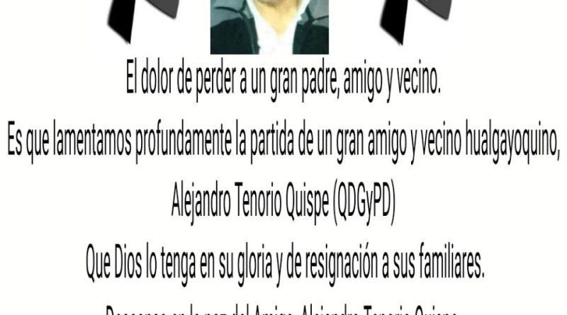 NOTA DE CONDOLENCIAS.