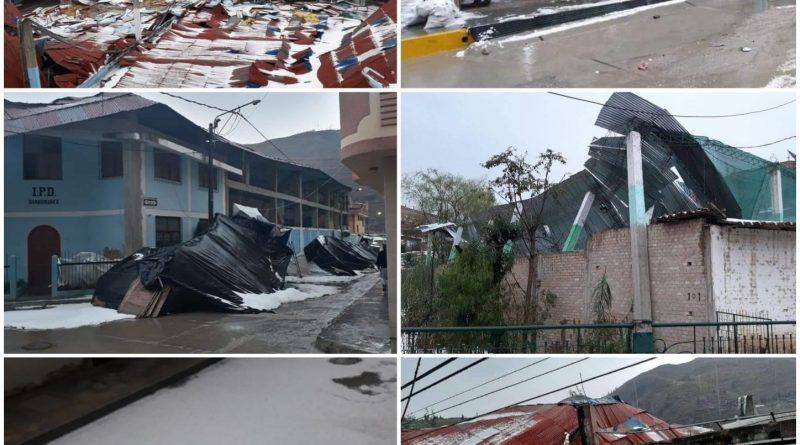 33 VIVIENDAS AFECTADAS Y HECTAREAS DE CULTIVO AFECTADAS TRAS INTENSA GRANIZADA EN BAMBAMARCA.